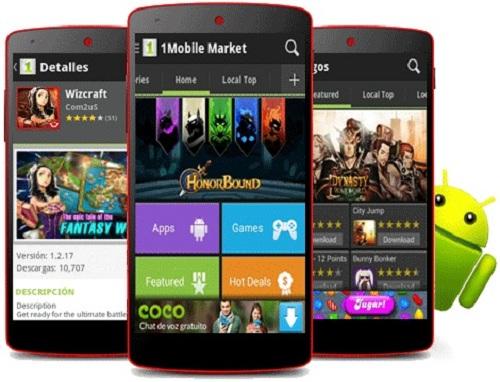 market de aplicaciones móvil