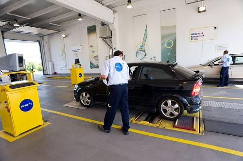 inspección técnica de un coche